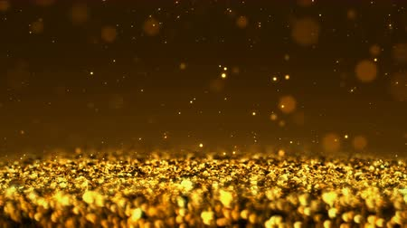esplendor : Golden Shiny glitter background abstract texture close up macro seamless loop particles