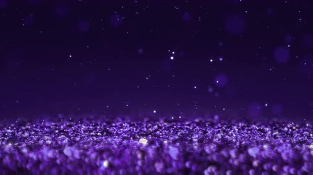 esplendor : Purple Shiny glitter background abstract texture close up macro seamless loop particles