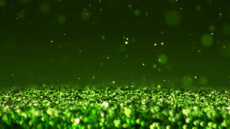 esplendor : Green Shiny glitter background abstract texture close up macro seamless loop particles Stock Footage