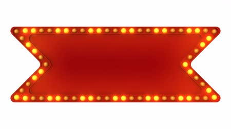 цирк : Red Marquee light board sign retro on white background. 3d rendering