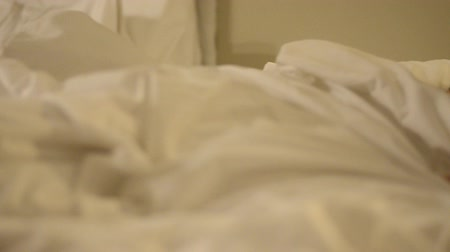 good : Asian mother and her son at bedtime Stock Footage