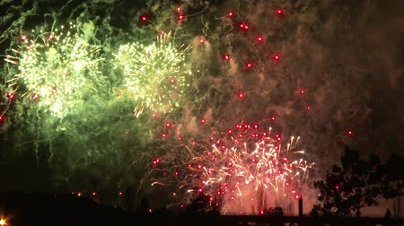 meggyullad : 4K UHD - 60fps or 30fps - Fireworks display with truck passing by