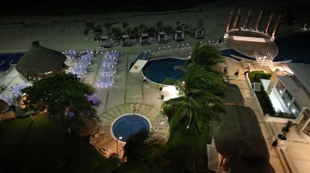 dominik : Wedding preparation at caribbean resort in the night