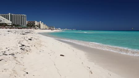 beach panorama : Caribbean beach view, Cancun, Mexico
