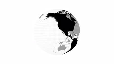 dönen : Rotating Earth globe.  Loopable on white background