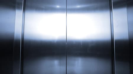 asansör : Elevator is arriving and doors open automatically, Blue tone