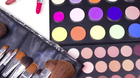 makijaż : Different professional make-up tools Wideo