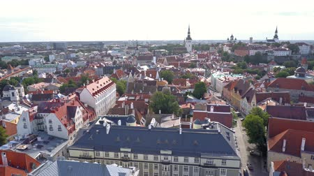 estonya : Tallinn old town. Capital of Estonia
