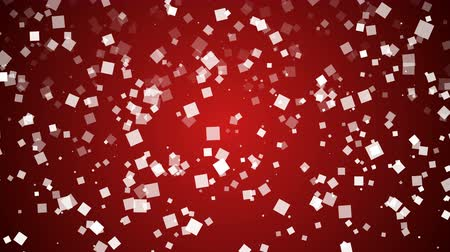 fall down : Boxes fall down on red background Stock Footage