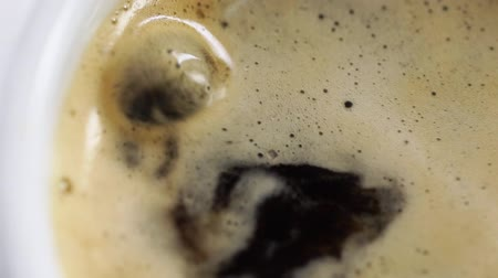 sweetener : Dropping shugar into cup with coffee Stock Footage