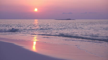 View at sunset on maldivian island