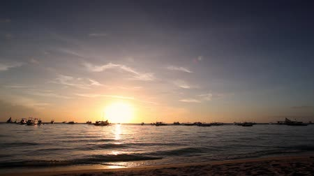 sandpit : View at sunset on Boracay island