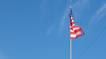 wimpel : USA flag on sky background