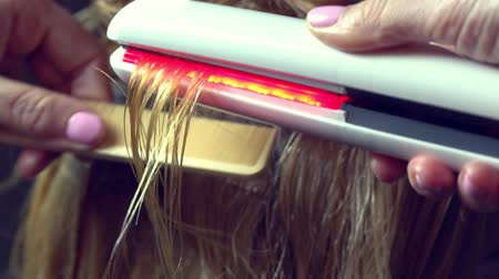 laminát : Keratin recovery and protein treatment with professional infrared iron tool