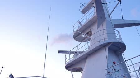 Navigation system on upper deck of cruise liner