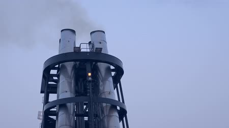 Ship chimney on upper deck of cruise liner