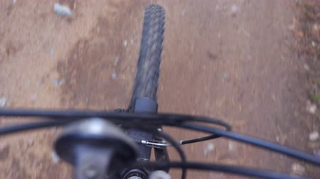 recreational park : Riding a mountain bicycle Stock Footage