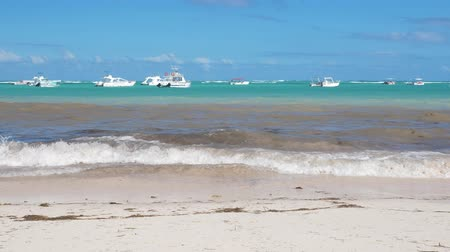 saona : Caribbean destinations with boats in the sea