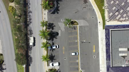 palma : Aerial view from drone on parking Stock Footage
