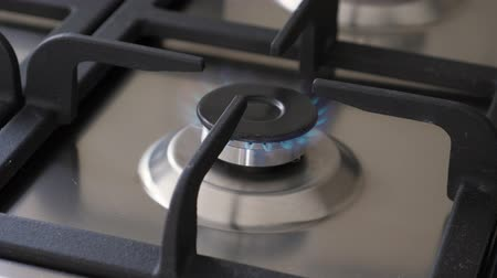 fogão : Gas oven with flame