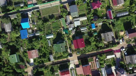 dacha : Aerial view from drone on village with summer houses