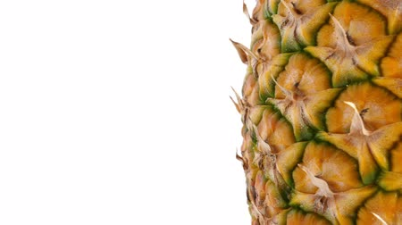 Pineapple fruit, closeup Stock Footage