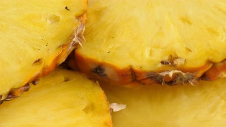 Sliced pieces of delicious pineapple fruit