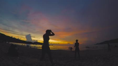 tripping : Timelapse at sunset on the island of Phuket in Thailand