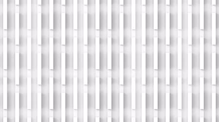 loopable movement of Vertical parallel white panel bar stack wall and floor footage background.