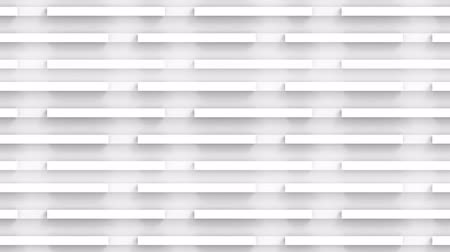 loopable movement of white panel bar stack wall and floor footage background.