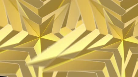 loopable abstract Golden triangle polygon rotation footage background.