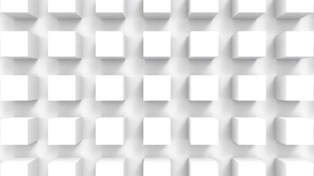 loopable zooming in of white cube box stack wall motion design footage background.