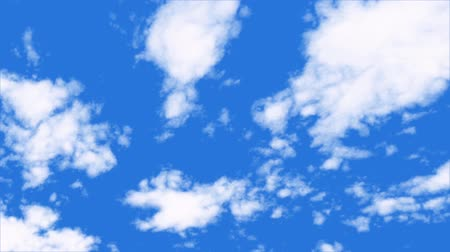 times lapse white cloud on blue sky background motion footage. Wideo