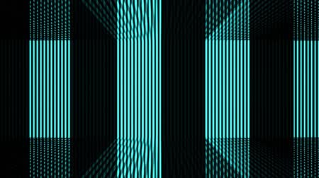 loopable blue vertical beam light pattern wall movement motion background footage. Wideo