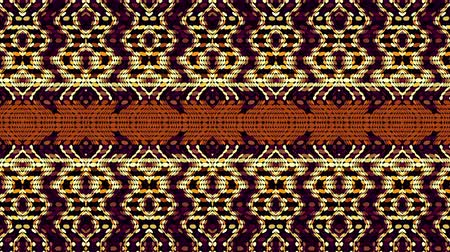 племенной : Moving ethnic tribal ornamental waves. Abstract screensaver for video. Стоковые видеозаписи