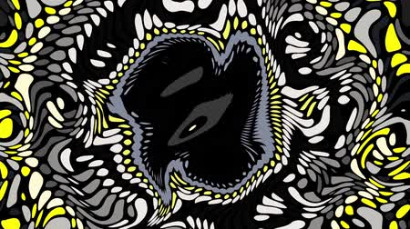 nepravidelný : Moving random wavy texture. Psychedelic animated abstract curved shapes. Looping footage.