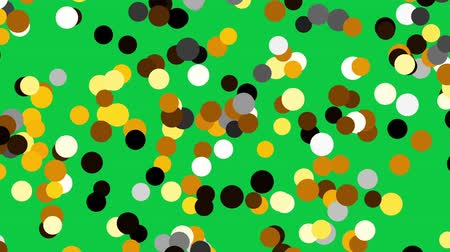 nepravidelný : Colorful spots randomly fill classic green screen background.