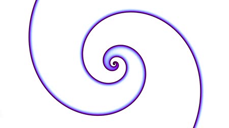 hidromassagem : Endless spinning Revolving simply Spiral on white background. Seamless looping footage. Abstract helix.