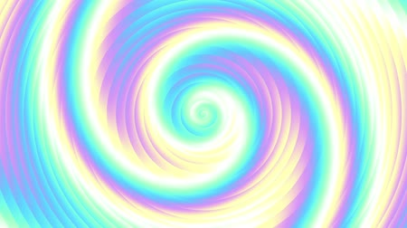 whirlpool : Endless spinning holographic spiral. Seamless looping footage. Abstract helix.