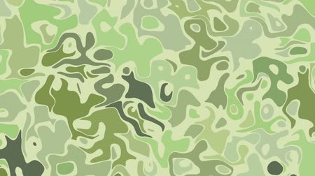 clipe : Moving random wavy texture. Camouflage animated background. Transform abstract curved shapes. Looping footage.