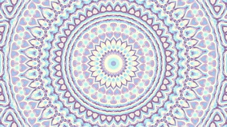 esotérico : Transforming ornamental circle. Round mandala pattern. Seamless loop footage.