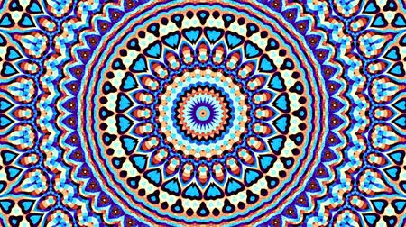 art noveau : Transforming ornamental circle. Round mandala pattern. Seamless loop footage.