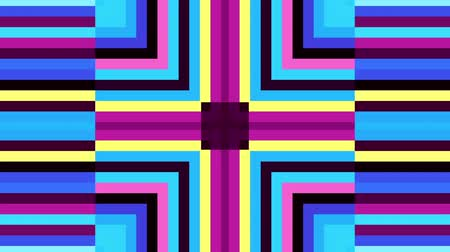 симметричный : Moving geometric shapes. Transforming square and strips grunge elements.