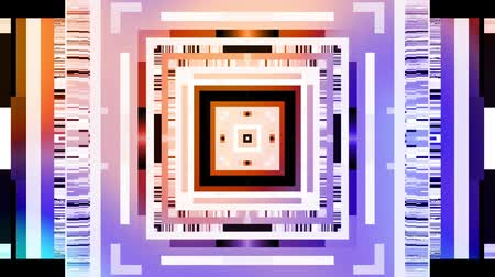 kübizm : Moving geometric shapes. Transforming square and strips grunge elements. Blur background.