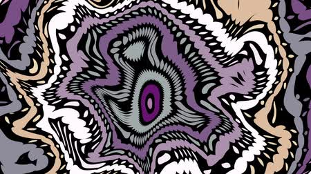 Moving random wavy texture. Psychedelic animated abstract curved shapes. Looping footage.