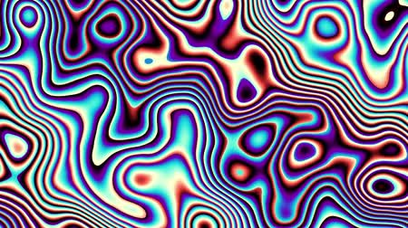Moving random wavy texture. Psychedelic animated background. Looping footage. Wideo