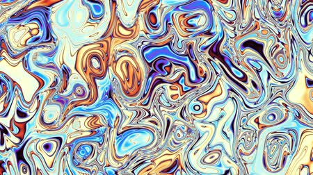 nepravidelný : Moving random wavy texture. Psychedelic animated background. Transform abstract curved shapes. Looping footage.