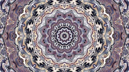 Transforming ornamental vintage mosaic art circle in Art Nouvoe style. Seamless loop footage.