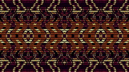 mosaique : Symmetric abstract wavy ornament. Animated ethnic tribal pattern. Looping footage. Vidéos Libres De Droits