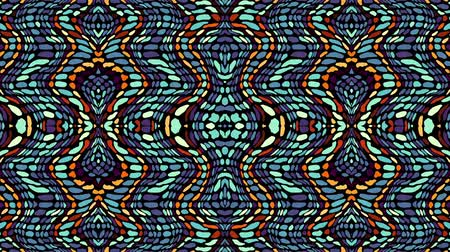 törzsi : Symmetric abstract wavy ornament. Animated ethnic tribal pattern. Looping footage. Stock mozgókép